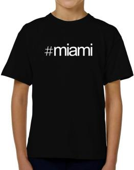 Hashtag Miami T-Shirt Boys Youth