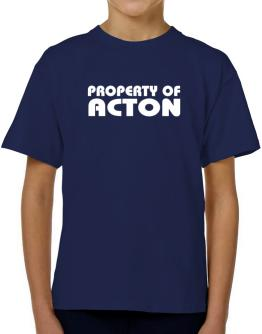""""""" Property of Acton """" T-Shirt Boys Youth"""