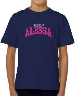 Property Of Alessa T-Shirt Boys Youth
