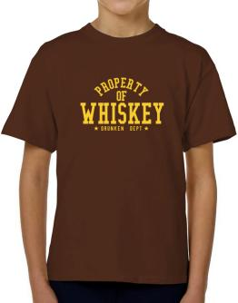 Property Of Whiskey - Drunken Department T-Shirt Boys Youth
