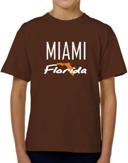 """ Miami - State Map "" T-Shirt Boys Youth"