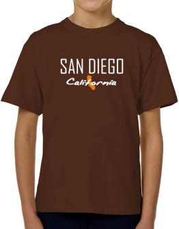 """"""" San Diego - State Map """" T-Shirt Boys Youth"""