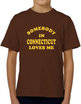 Somebody Connecticut T-Shirt Boys Youth