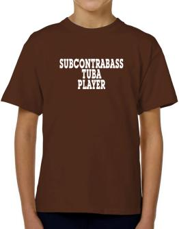 Subcontrabass Tuba Player - Simple T-Shirt Boys Youth