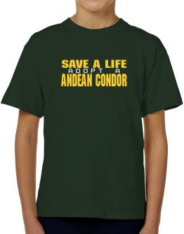 Save A Life, Adopt An Andean Condor T-Shirt Boys Youth