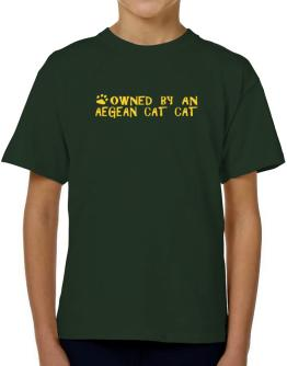 Owned By An Aegean Cat T-Shirt Boys Youth