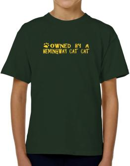 Owned By A Hemingway Cat T-Shirt Boys Youth