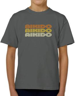 Aikido Retro Color T-Shirt Boys Youth