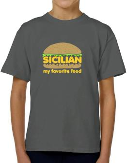 Sicilian My Favorite Food T-Shirt Boys Youth