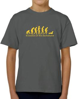 Evolution Of The Dachshund T-Shirt Boys Youth