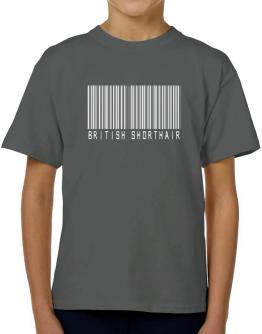 British Shorthair Barcode T-Shirt Boys Youth