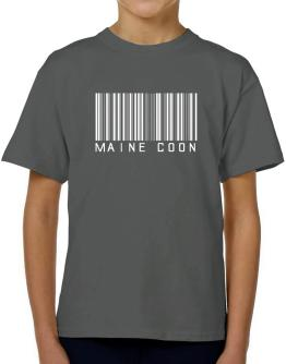 Maine Coon Barcode T-Shirt Boys Youth
