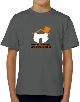 Home Is Where Maine Coon Is T-Shirt Boys Youth