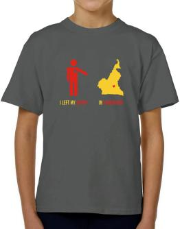 I Left My Heart In Cameroon - Map T-Shirt Boys Youth
