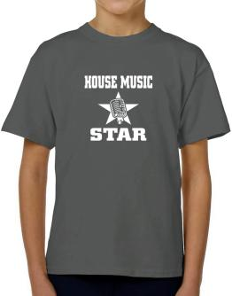 House Music Star - Microphone T-Shirt Boys Youth