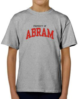 Property Of Abram T-Shirt Boys Youth