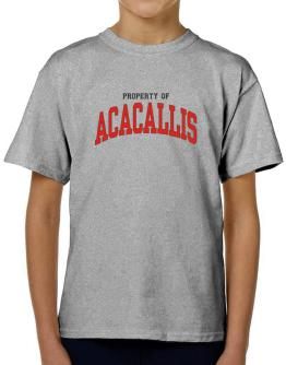 Property Of Acacallis T-Shirt Boys Youth