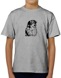Australian Shepherd Face Special Graphic T-Shirt Boys Youth