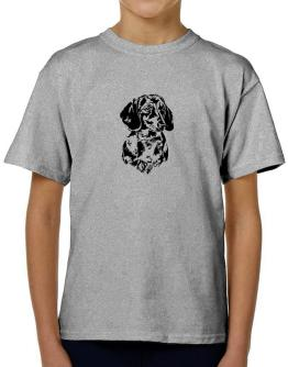 Dachshund Face Special Graphic T-Shirt Boys Youth