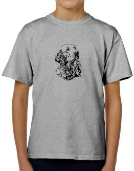 Golden Retriever Face Special Graphic T-Shirt Boys Youth