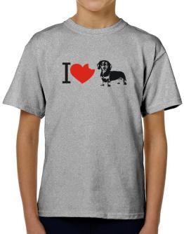 I love Dachshunds T-Shirt Boys Youth