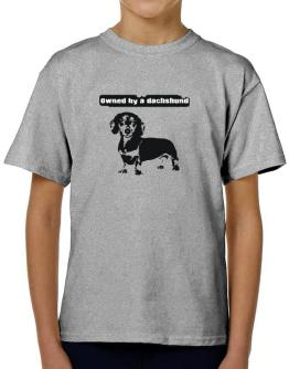 Owned By A Dachshund T-Shirt Boys Youth