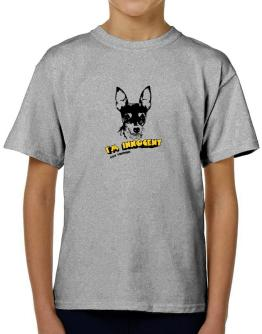 I'M INNOCENT Fox Terrier T-Shirt Boys Youth