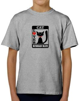 Cat Lover - Russian Blue T-Shirt Boys Youth