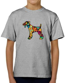 Psychedelic Fox Terrier T-Shirt Boys Youth