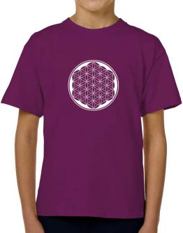 Flower of life geometry T-Shirt Boys Youth