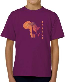 Africa map cool design T-Shirt Boys Youth