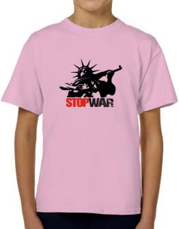 Statue Of Liberty : Stop War T-Shirt Boys Youth