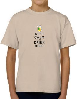Keep calm and drink beer T-Shirt Boys Youth