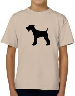 Fox Terrier silhouette T-Shirt Boys Youth