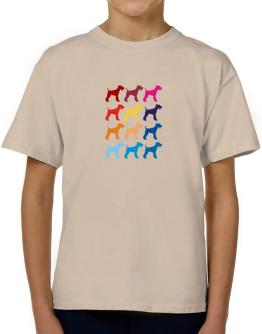 Colorful Fox Terrier T-Shirt Boys Youth