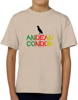 Dripping Andean Condor T-Shirt Boys Youth