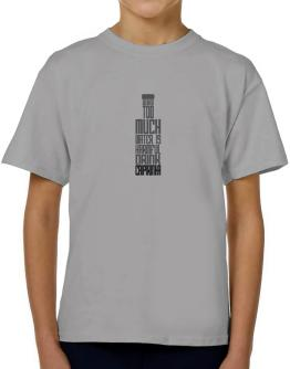 Drinking Too Much Water Is Harmful. Drink Caipirinha T-Shirt Boys Youth
