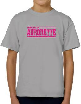 Property Of Aurorette - Vintage T-Shirt Boys Youth