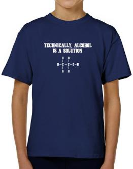 Alcohol is a solution T-Shirt Boys Youth