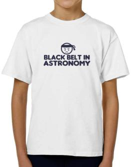 Black Belt In Astronomy T-Shirt Boys Youth