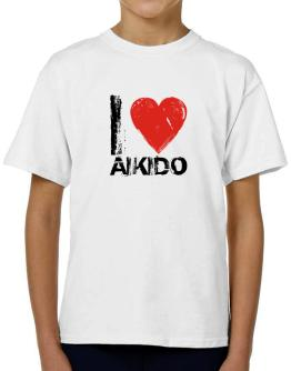 I Love Aikido T-Shirt Boys Youth