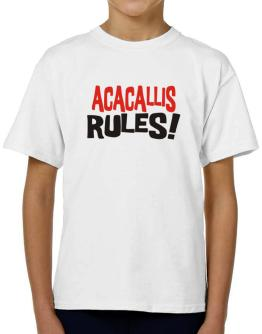 Acacallis Rules! T-Shirt Boys Youth