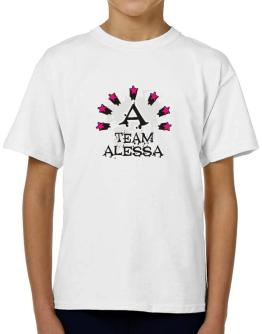 Team Alessa - Initial T-Shirt Boys Youth