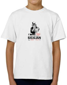 I Want You To Speak Sicilian Or Get Out! T-Shirt Boys Youth