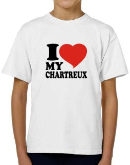 I Love My Chartreux T-Shirt Boys Youth