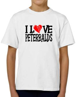 I Love Peterbalds - Scratched Heart T-Shirt Boys Youth