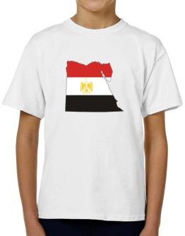Egypt - Country Map Color Simple T-Shirt Boys Youth