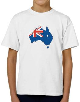 Australia - Country Map Color Simple T-Shirt Boys Youth