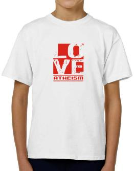 Love Atheism T-Shirt Boys Youth