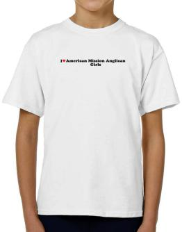 I Love American Mission Anglican Girls T-Shirt Boys Youth